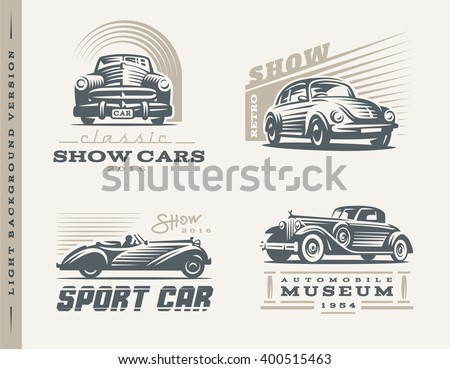 classic cars logo illustrations
