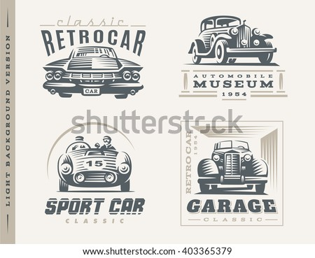 classic cars logo illustrations