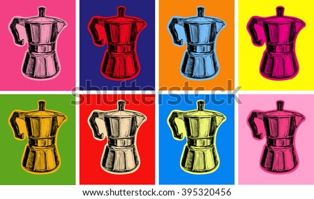 Classic Coffee Maker illustration pop art style