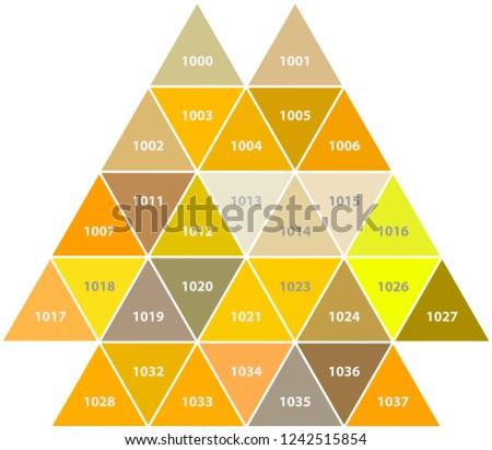 Classic colors samples. Yellow hues