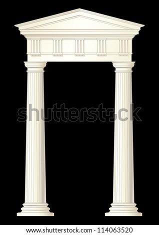 classic columns vector drawing