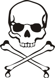 classic cross bones and skull in vector format very easy to edit, individual objects