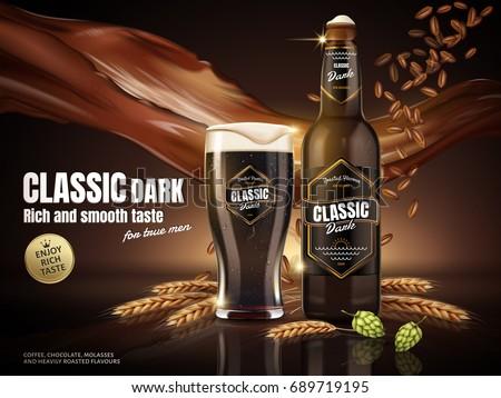 classic dark beer ads