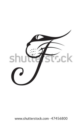stock-vector-classic-decorated-baroque-vector-letter-calligraphy-f-cat-calligramm-47456800.jpg