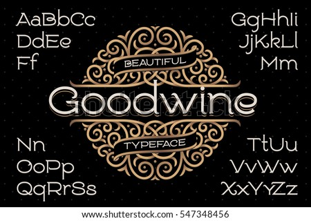 classic decorative font with...