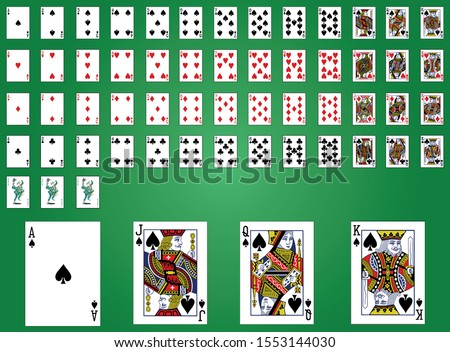 classic design of playing cards