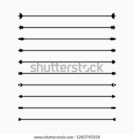Classic Dividers set, simple graphic design, vector illustration #1283745058