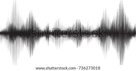 classic earthquake wave on