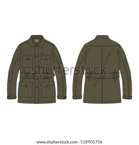 Royalty Free Fashion Bomber Jacket Vector Outdoor Apparel