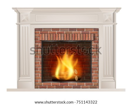 classic fireplace with