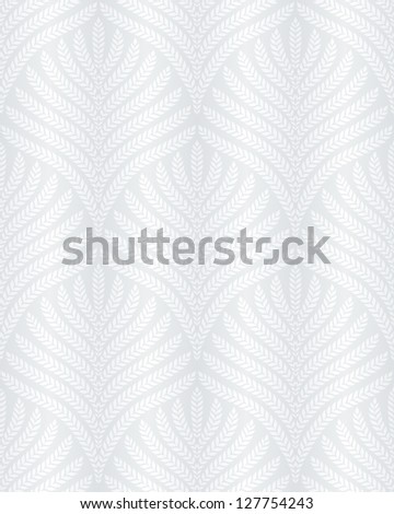 classic foliage seamless pattern in white and light gray