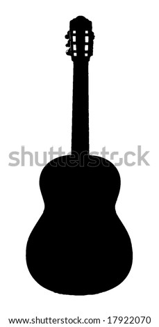 classic folk guitar vector illustration