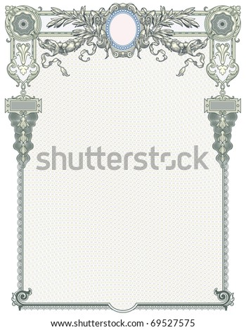 """Classic guilloche background like those seen on diplomas, stock certificates, etc. For more see """"Guilloche"""" in my gallery."""