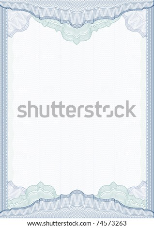 Classic Guilloche Border For Diploma Or Certificate With ...