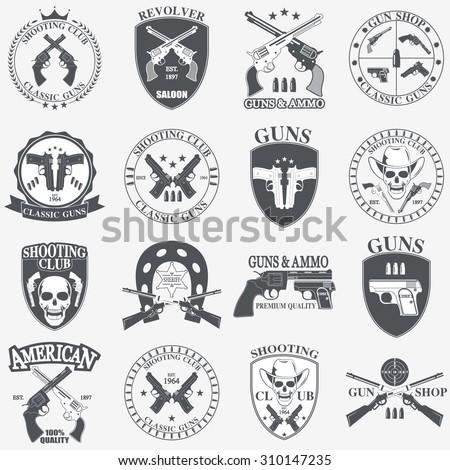 classic guns emblem with...