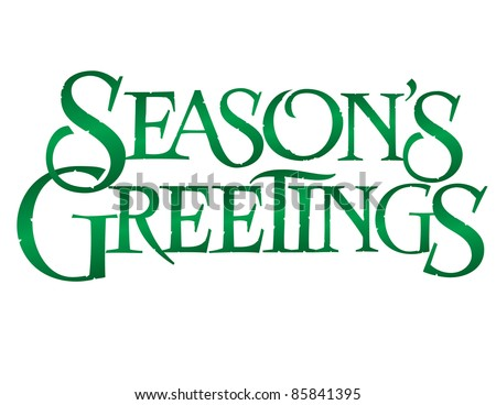 Classic Holiday Vector Lettering Series: Season's Greetings - stock vector