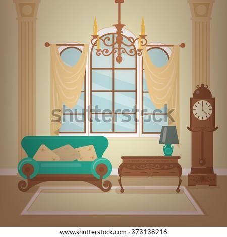 classic home interior of living