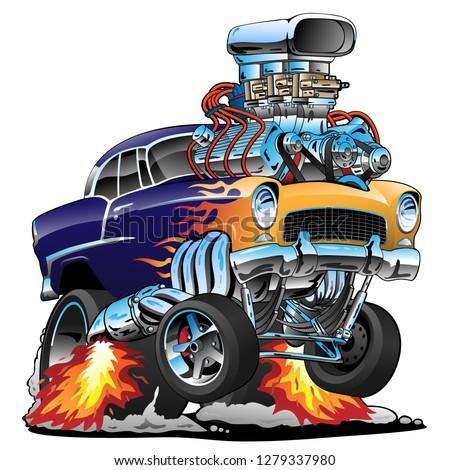 classic hot rod muscle car
