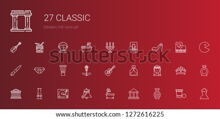 classic icons set collection