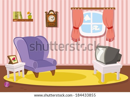 Vector house interior illustration - Download Free Vector Art, Stock ...