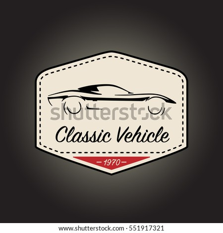 classic logo of vintage motor