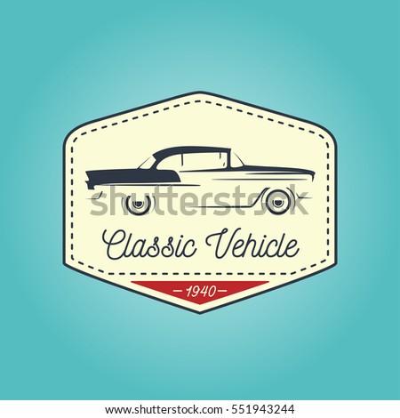 classic logo of vintage motor...