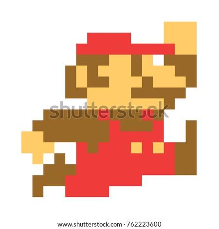 classic mario bros pixel art