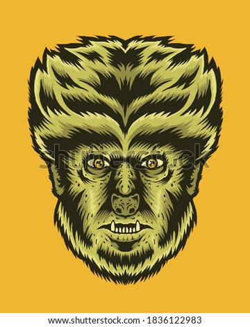 classic monster wolfman vector
