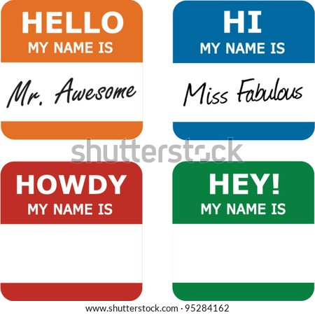 Classic name tags with a modern twist