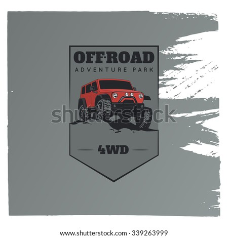 classic off road suv car emblem