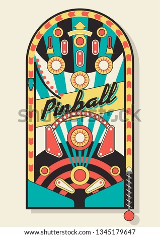 Classic Pinball Field Isolated Illustration