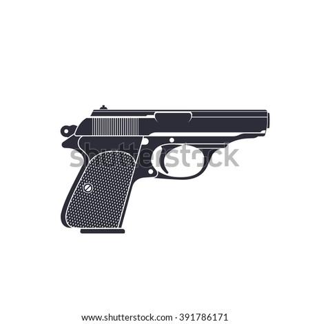 classic pistol  gun vector