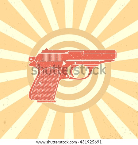 classic pistol  old handgun