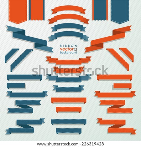 Classic ribbon collection on the white background. Eps 10 vector file.