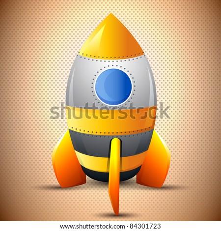 Classic rocket, Retro Robot