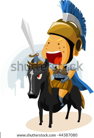 Classic Rome Cavalry. Colorful Detailed vector Illustration.