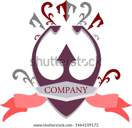 Classic royal-inspired logo in red and grey, Represents prosperous strength and unity.