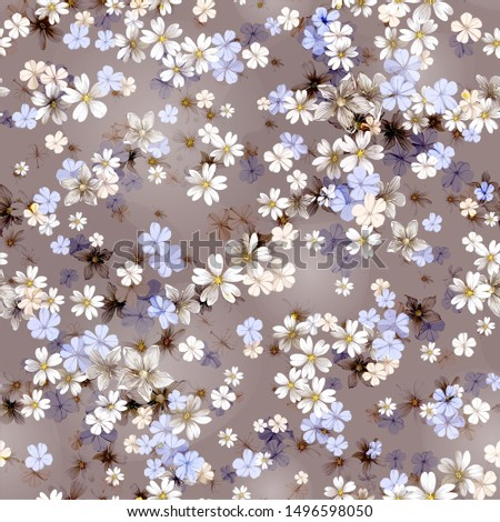 Classic seamless floral background. Seamless pattern with flowers for design, textile design or fabrics.
