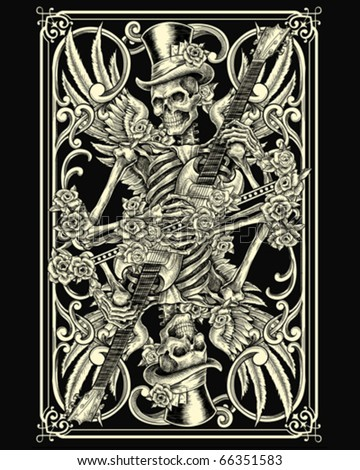 Stock Photo Classic Skeleton Playing Card