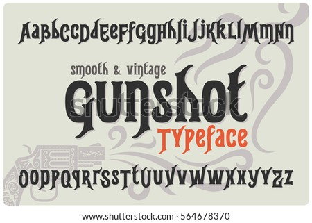 classic smooth font named