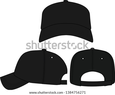 Classic Sports Cap flat Illustration