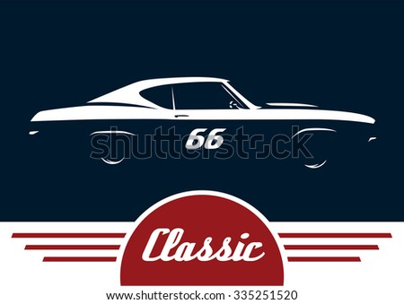 classic sports muscle vehicle