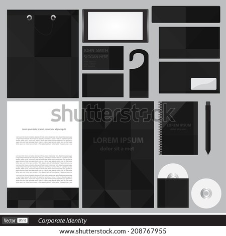 Classic stationery template design. Documentation for business.