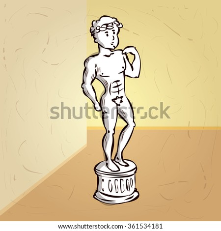classic statue of a women hand