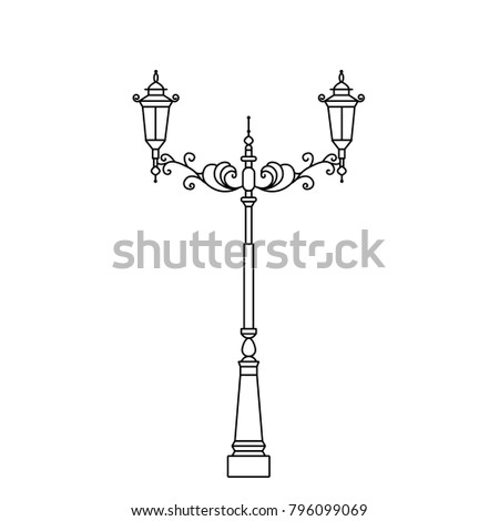 classic street light pole or