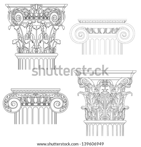 classic style column vector set