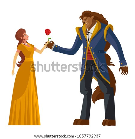 classic tale of princess and beast