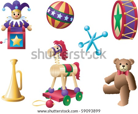 Classic Toys 2 - stock vector