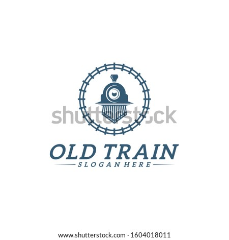 classic train logo concept
