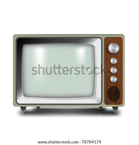 Classic TV in vector illustration